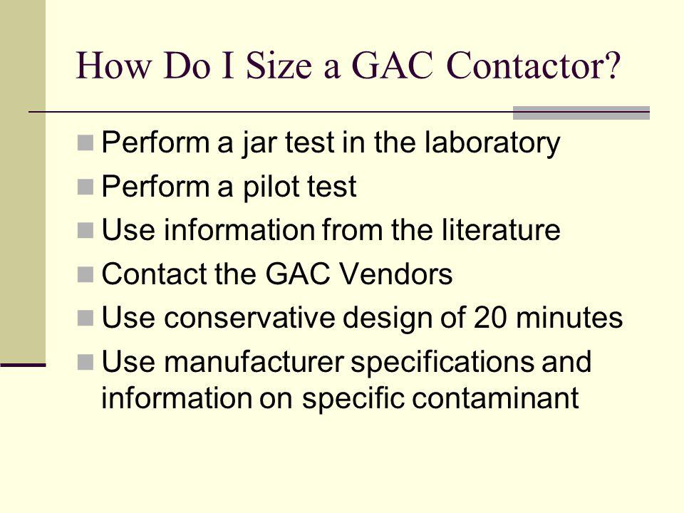 How Do I Size a GAC Contactor