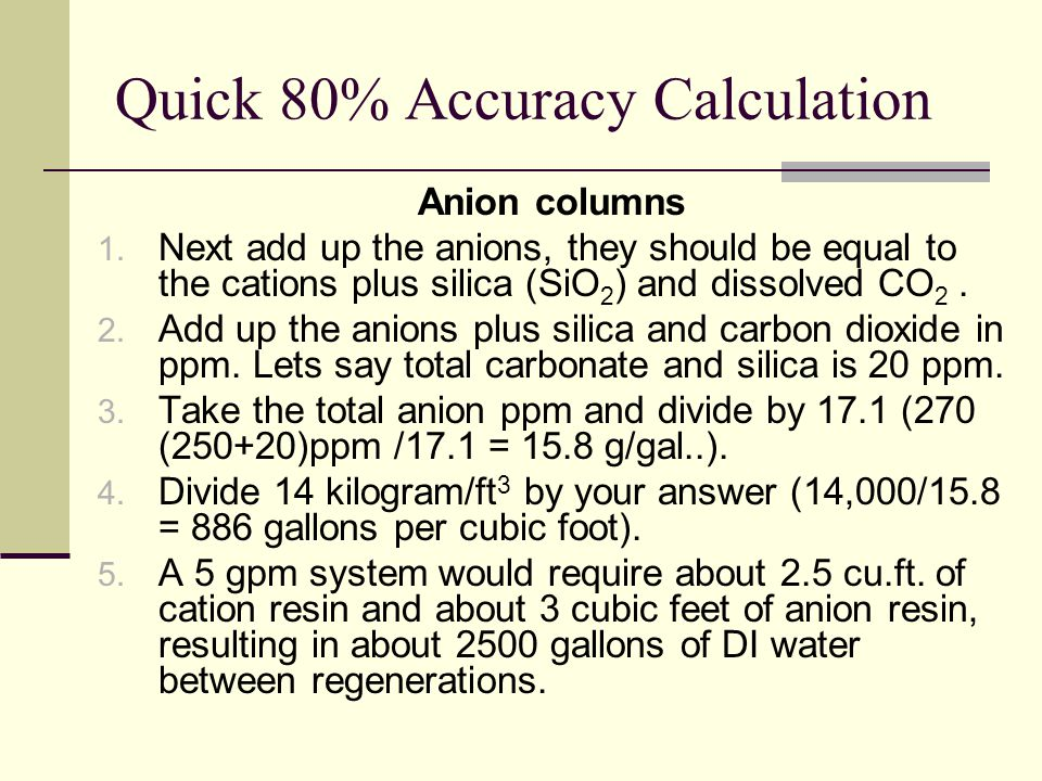 Quick 80% Accuracy Calculation
