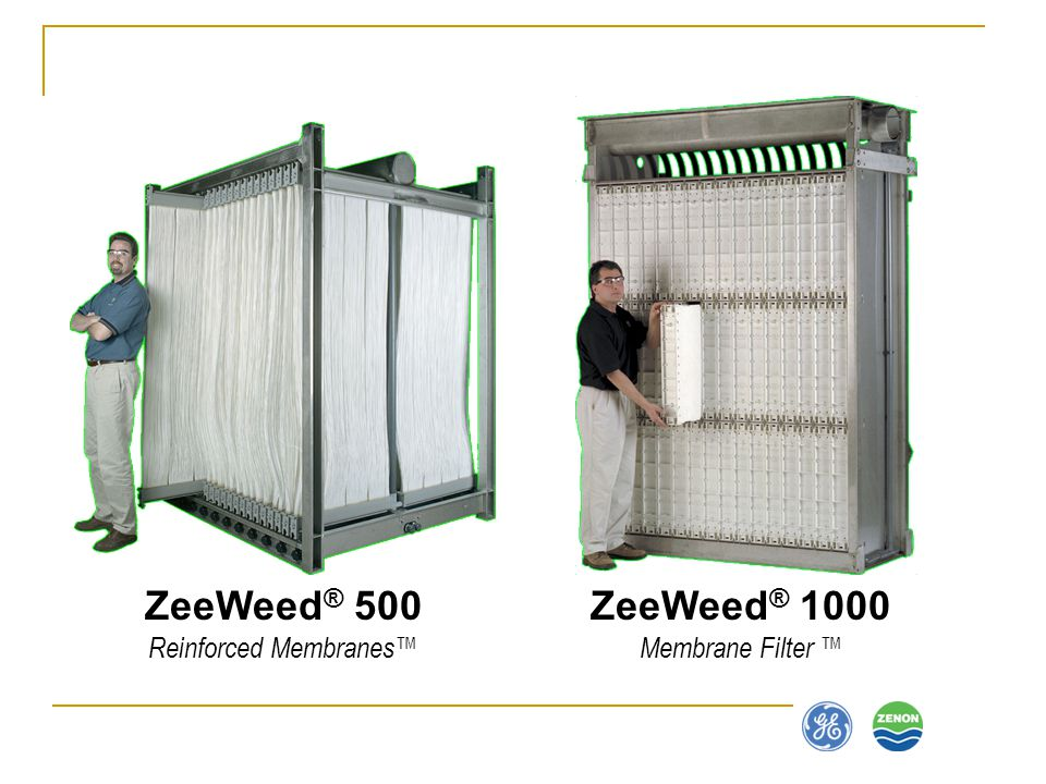 ZeeWeed® 500 Reinforced Membranes™ ZeeWeed® 1000 Membrane Filter ™