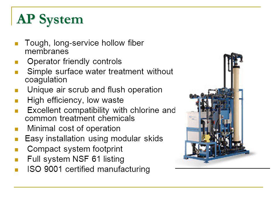 AP System Tough, long-service hollow fiber membranes