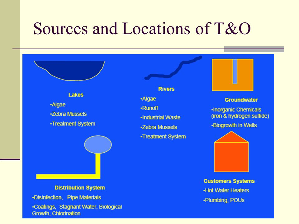 Sources and Locations of T&O