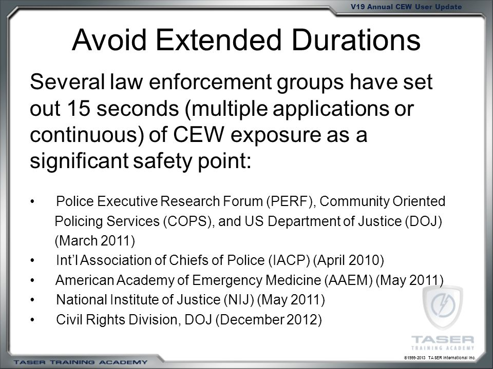Avoid Extended Durations