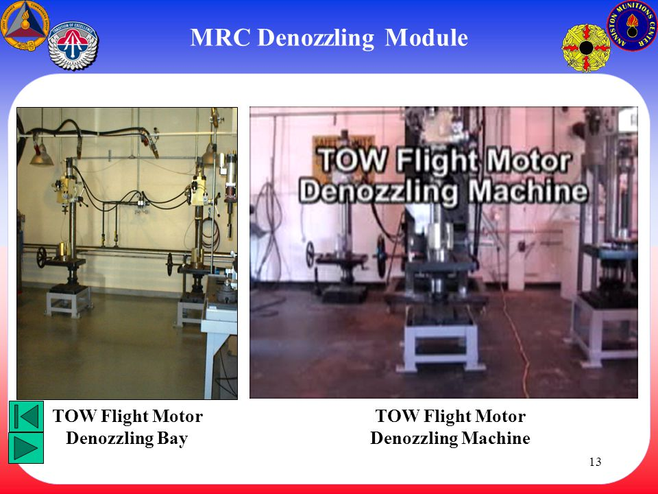 TOW Flight Motor Denozzling Bay TOW Flight Motor Denozzling Machine