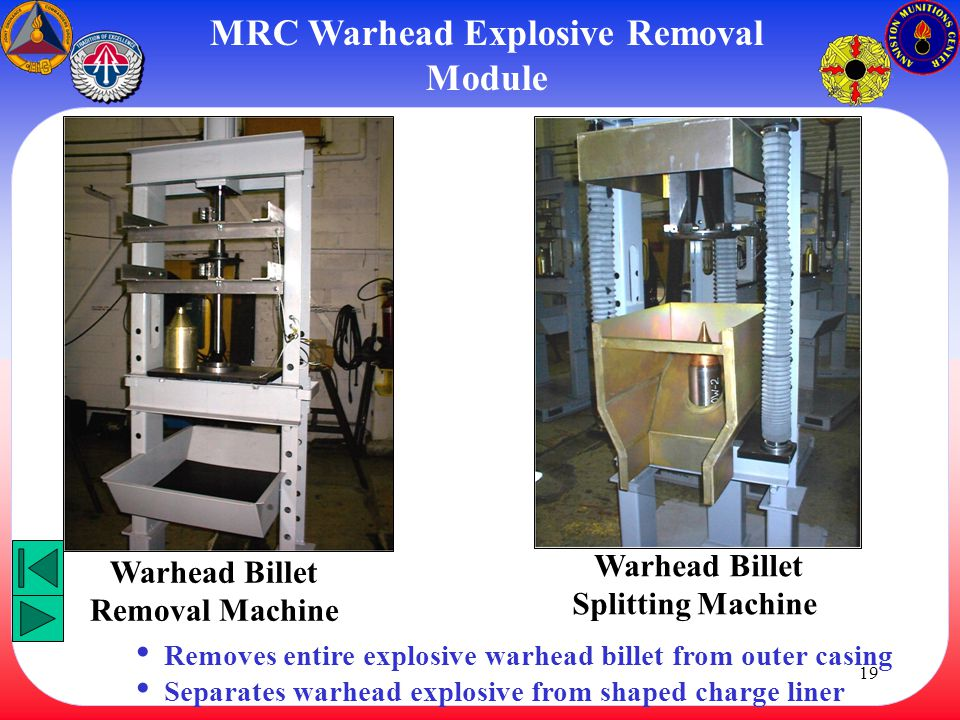 MRC Warhead Explosive Removal Module