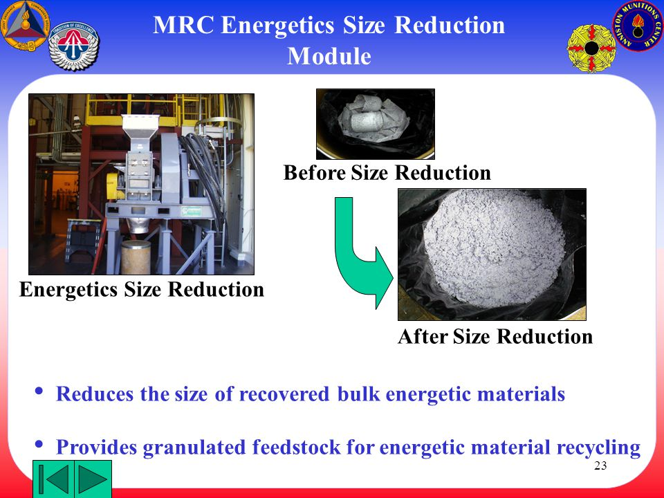 MRC Energetics Size Reduction Module