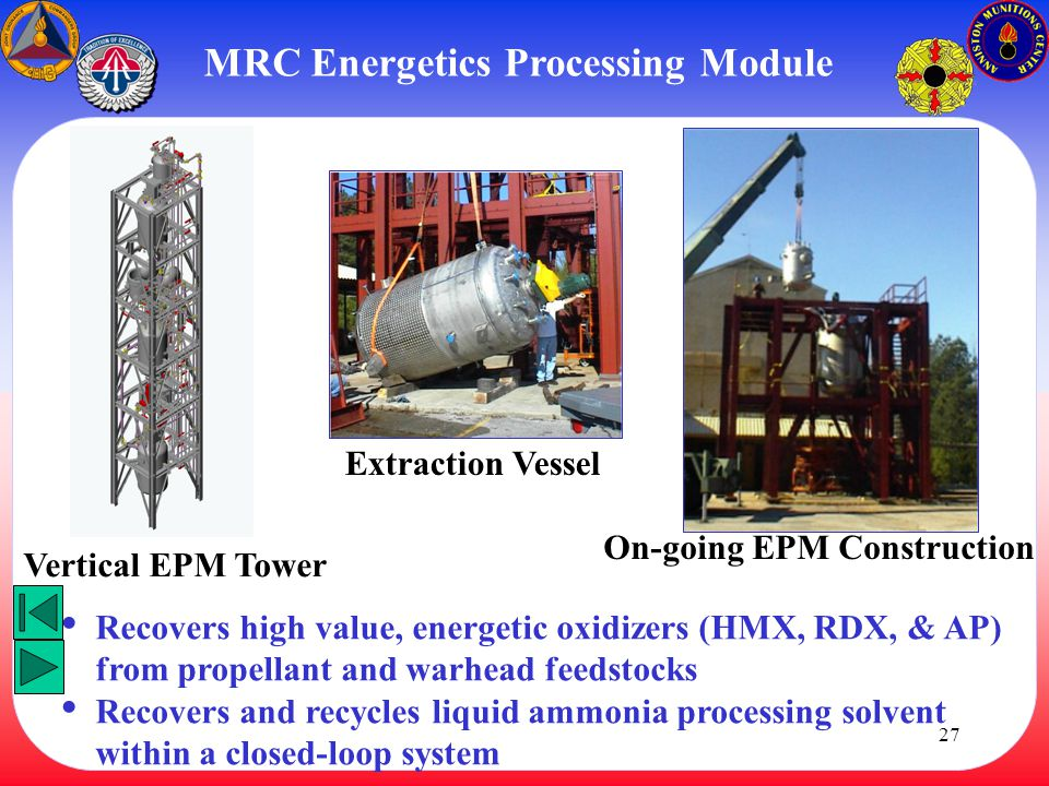 MRC Energetics Processing Module On-going EPM Construction