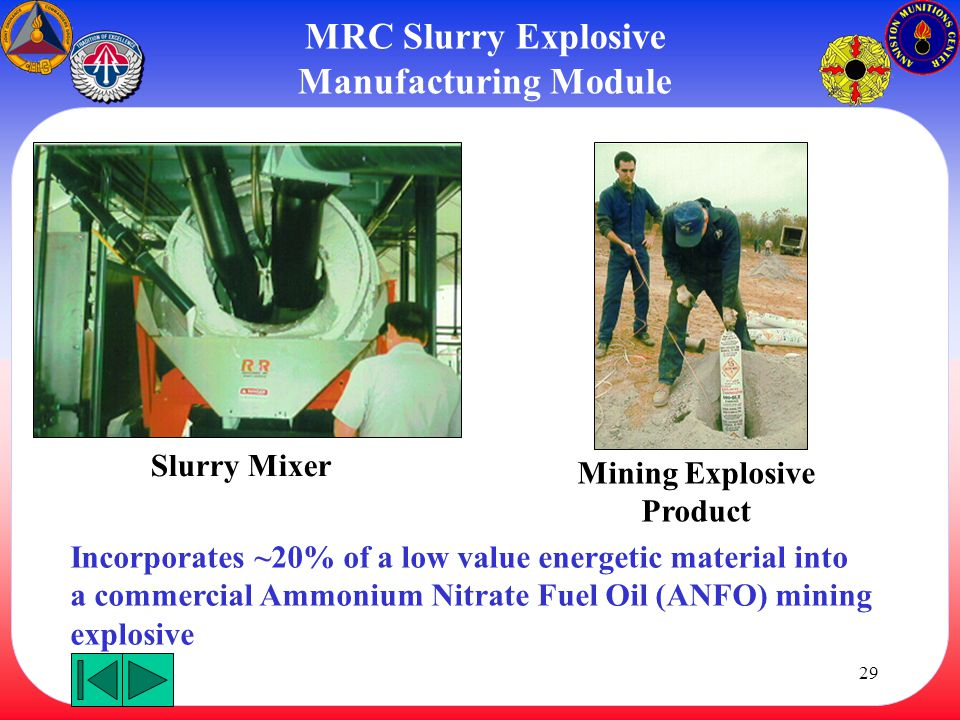 MRC Slurry Explosive Manufacturing Module Mining Explosive Product