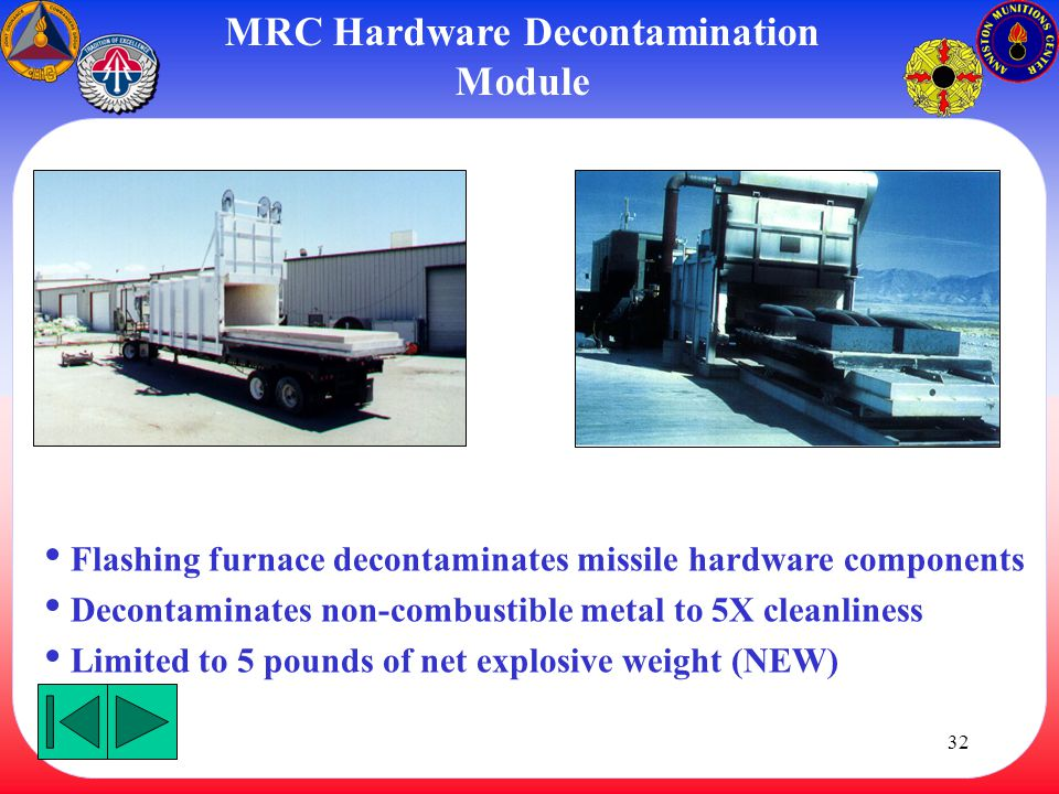 MRC Hardware Decontamination Module