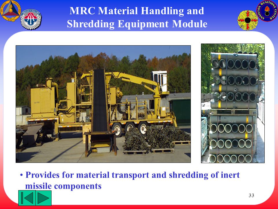MRC Material Handling and Shredding Equipment Module