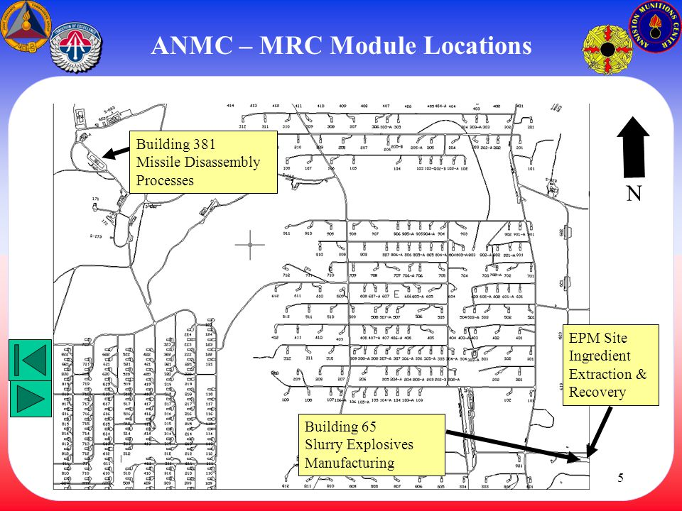 ANMC – MRC Module Locations