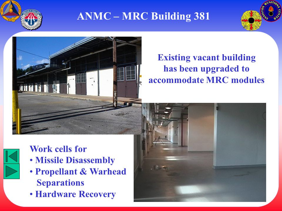Existing vacant building accommodate MRC modules
