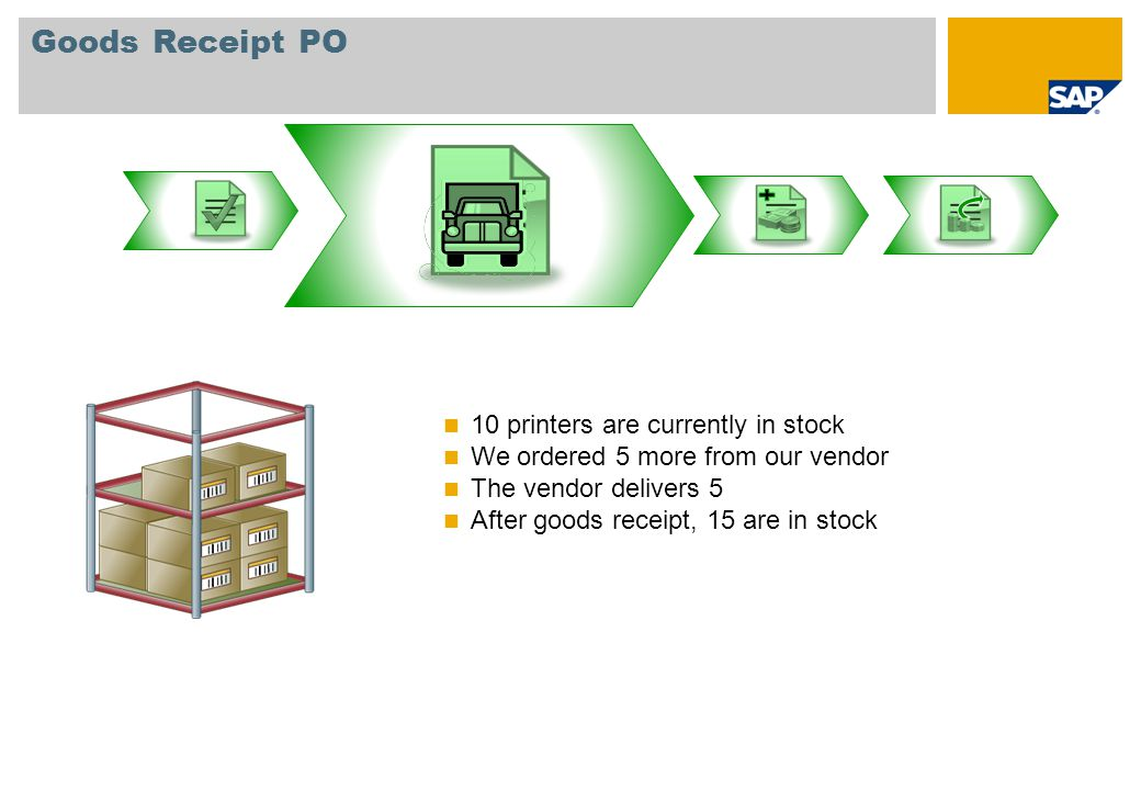Goods Receipt PO 10 printers are currently in stock