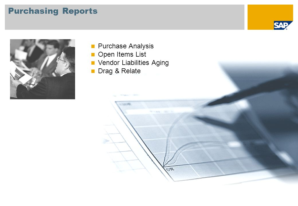 Purchasing Reports Purchase Analysis Open Items List