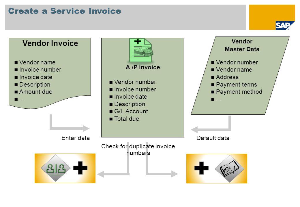 Create a Service Invoice