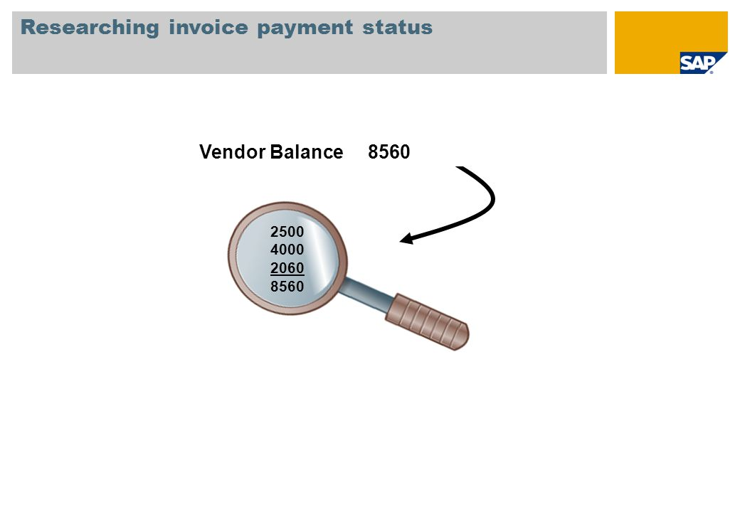 Researching invoice payment status