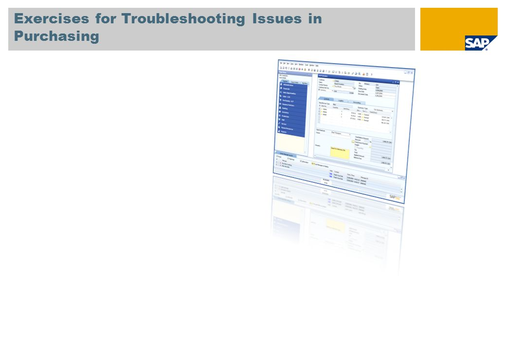 Exercises for Troubleshooting Issues in Purchasing