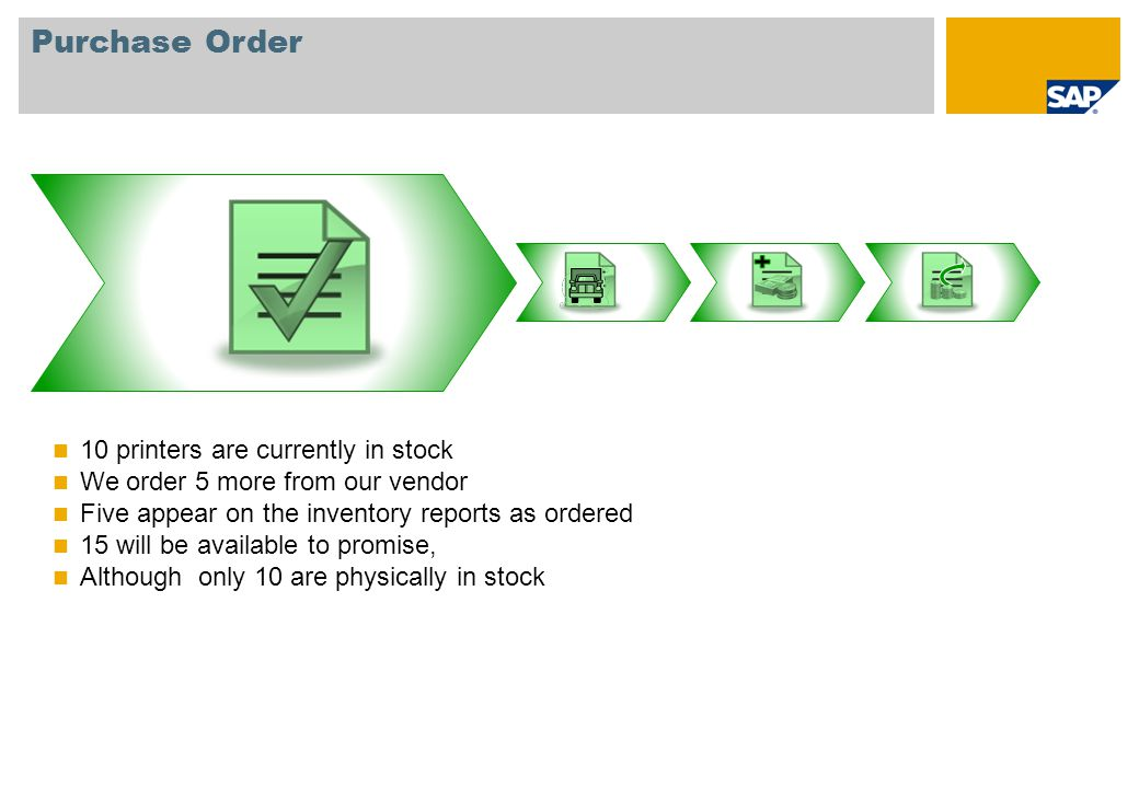 Purchase Order 10 printers are currently in stock
