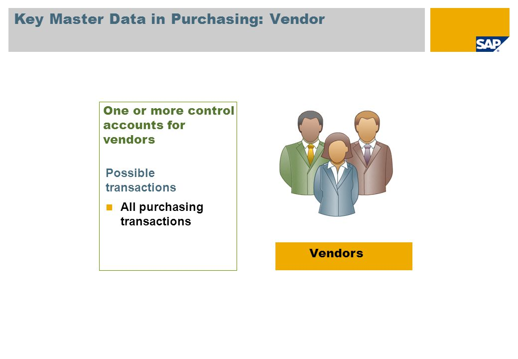 Key Master Data in Purchasing: Vendor