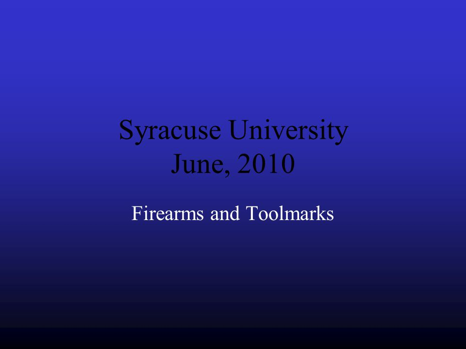 Syracuse University June, 2010