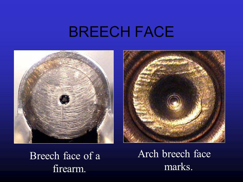 Breech face of a firearm.