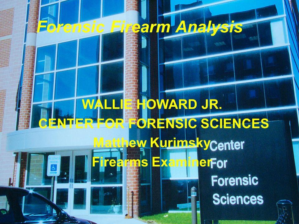 Forensic Firearm Analysis