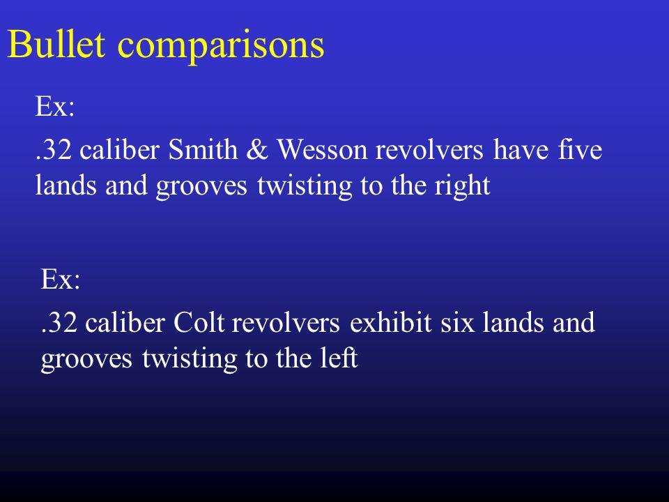 Bullet comparisons Ex:
