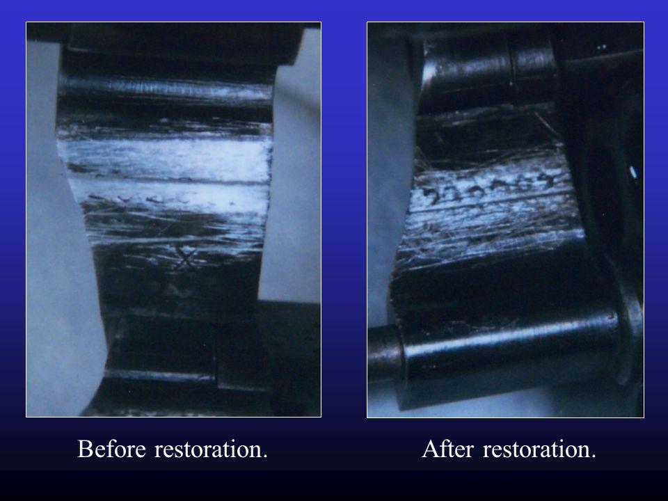 Before restoration. After restoration.