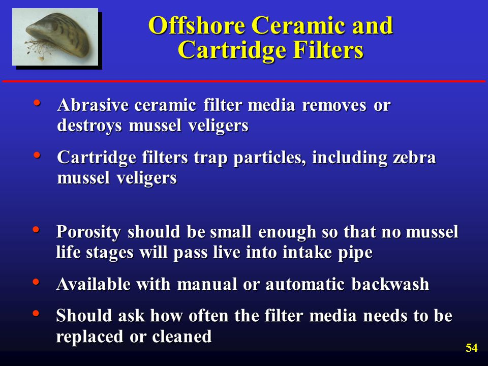 Offshore Ceramic and Cartridge Filters