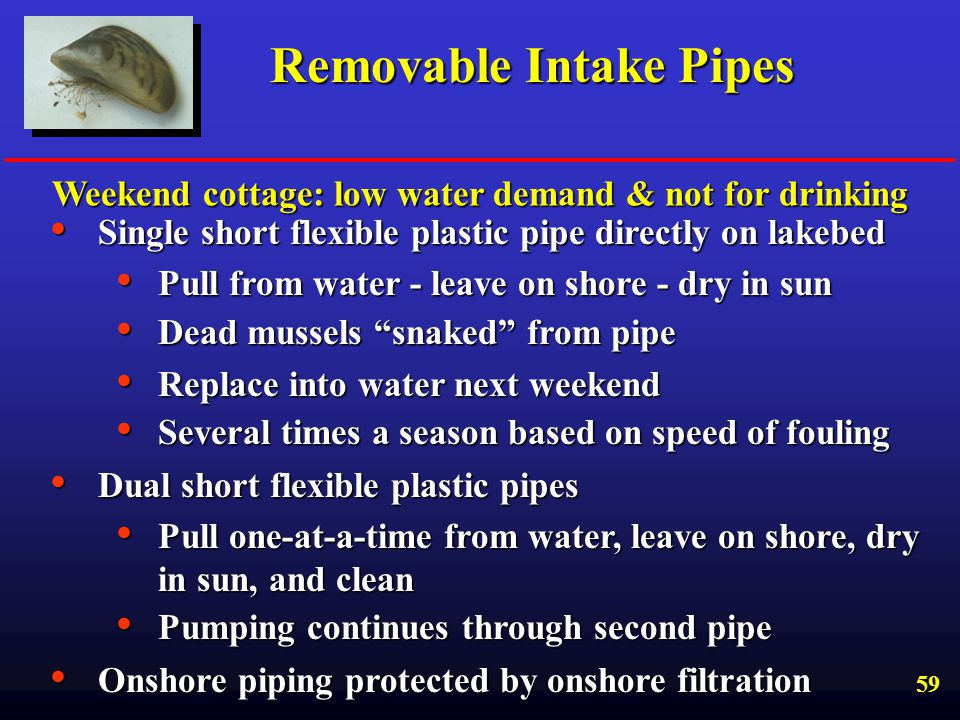 Removable Intake Pipes
