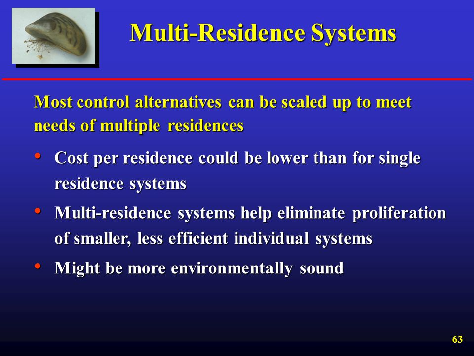 Multi-Residence Systems