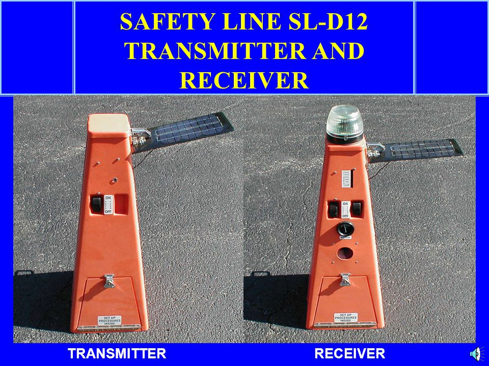SAFETY LINE SL-D12 TRANSMITTER AND RECEIVER