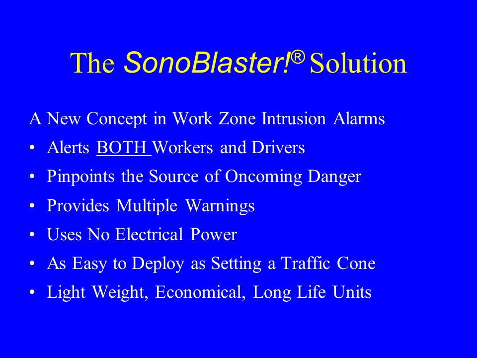 The SonoBlaster!® Solution