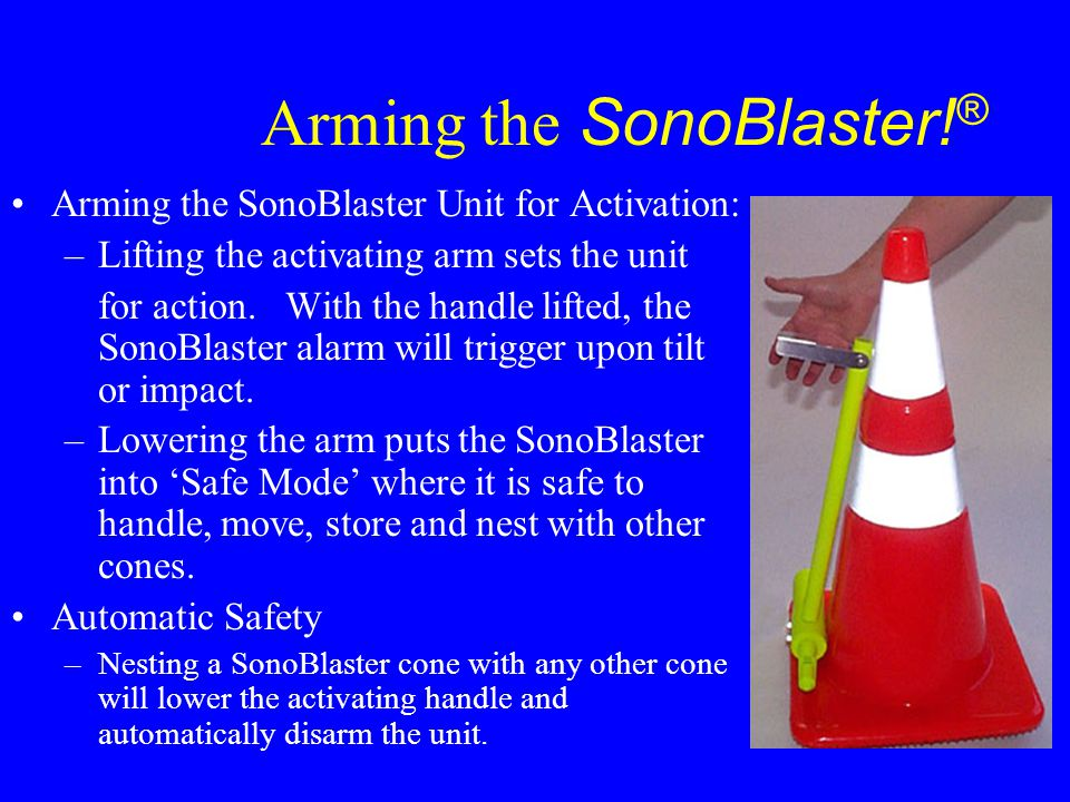 Arming the SonoBlaster!®