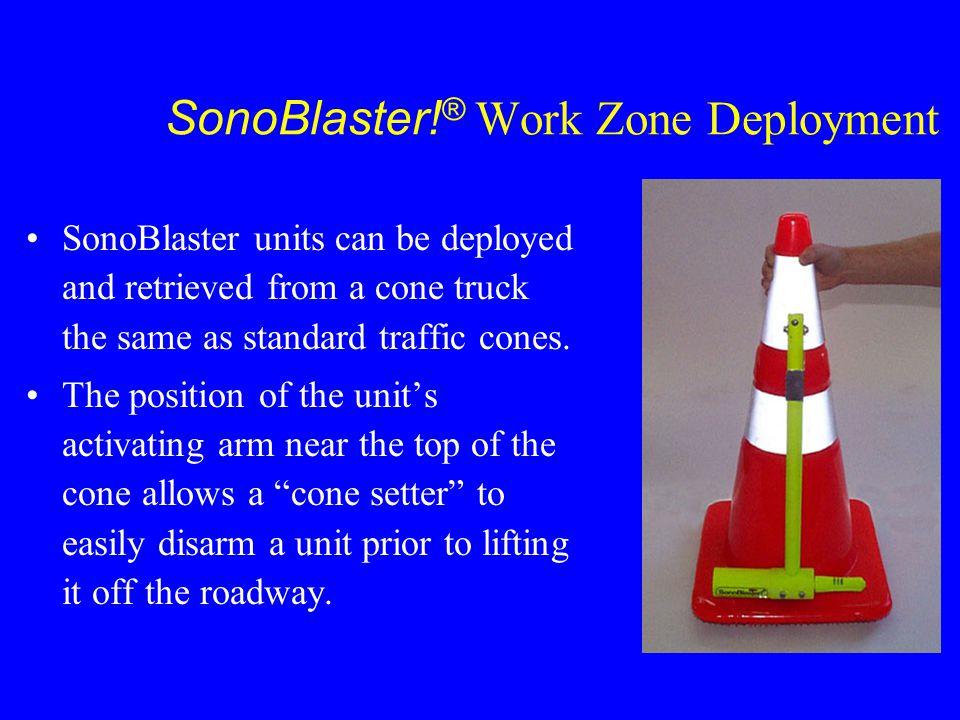 SonoBlaster!® Work Zone Deployment
