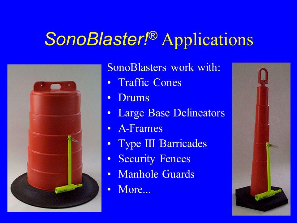 SonoBlaster!® Applications