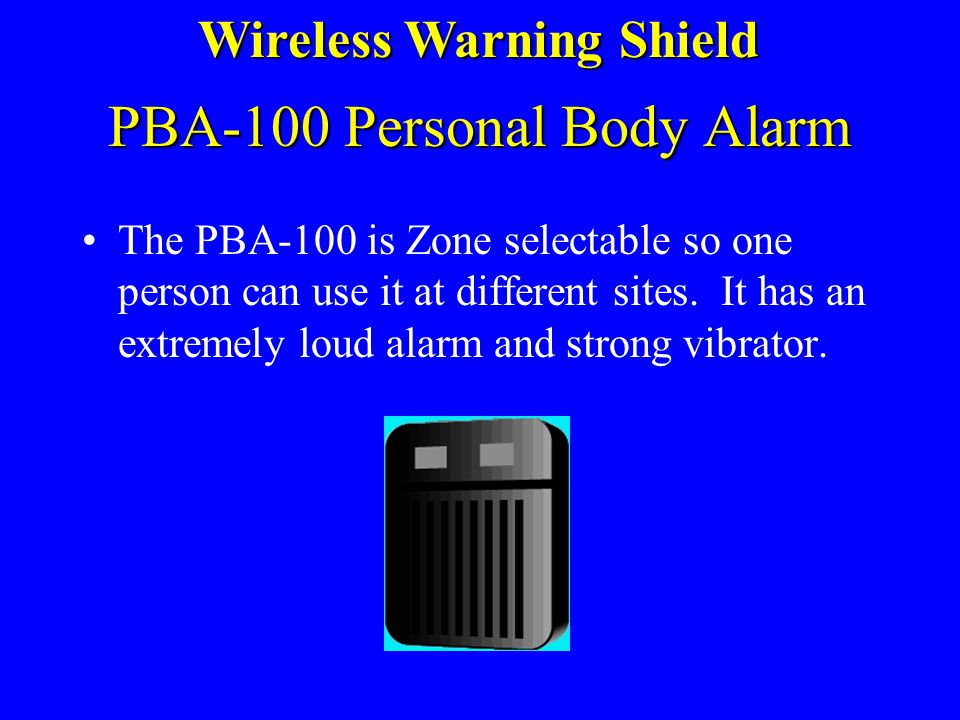 PBA-100 Personal Body Alarm
