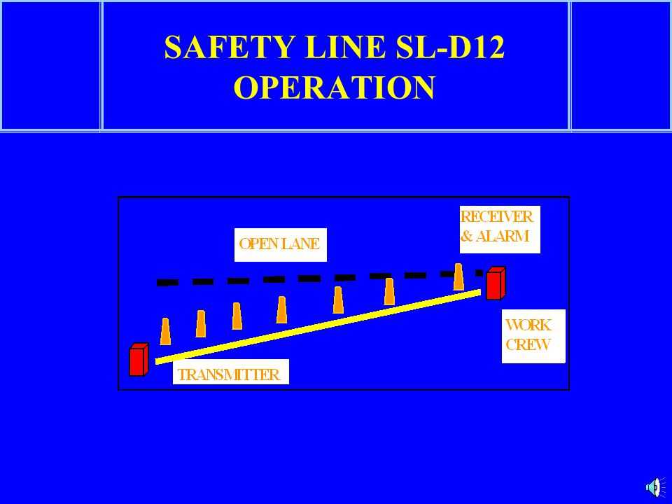 SAFETY LINE SL-D12 OPERATION