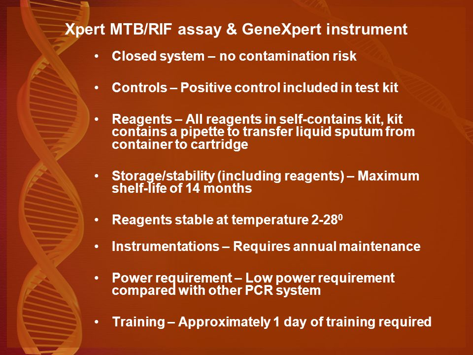 Xpert MTB/RIF assay & GeneXpert instrument