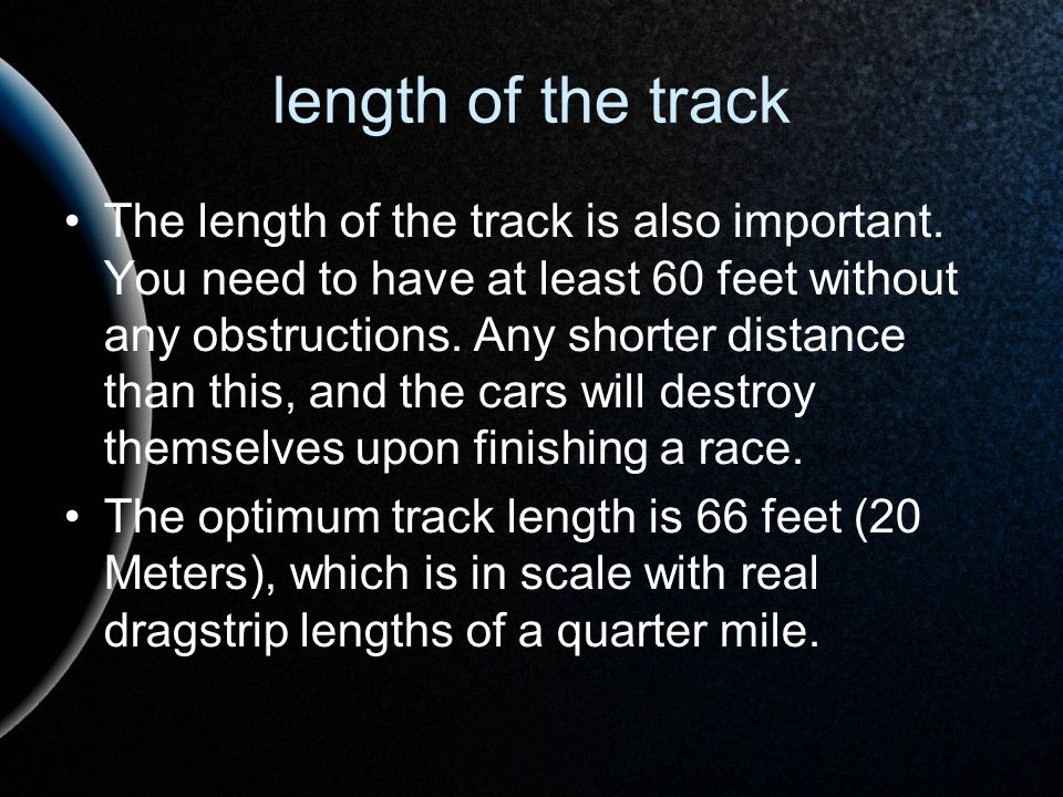 length of the track