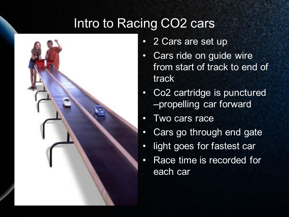 Intro to Racing CO2 cars 2 Cars are set up