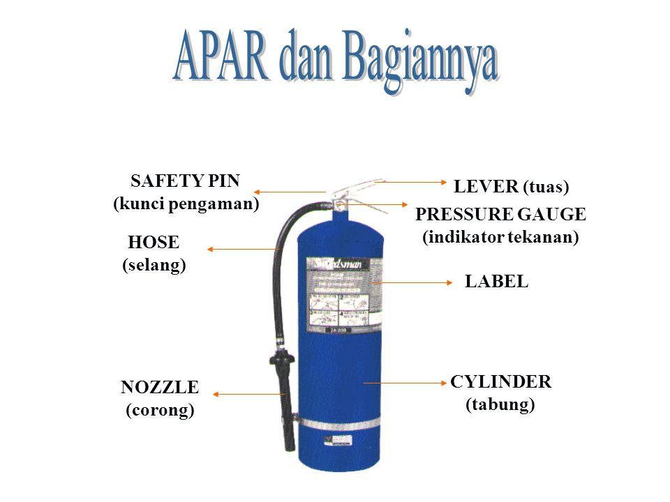 APAR dan Bagiannya SAFETY PIN LEVER (tuas) (kunci pengaman)