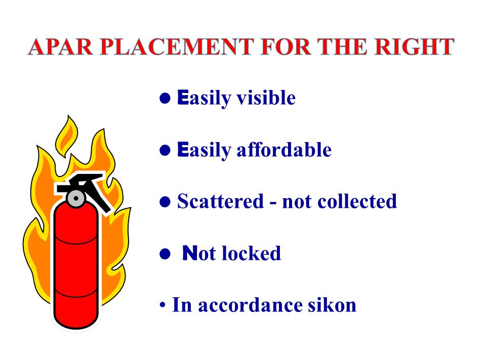APAR PLACEMENT FOR THE RIGHT