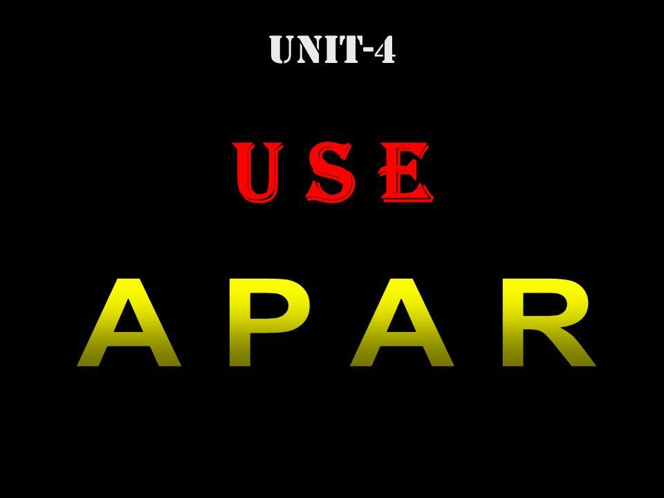 UNIT-4 U S E A P A R