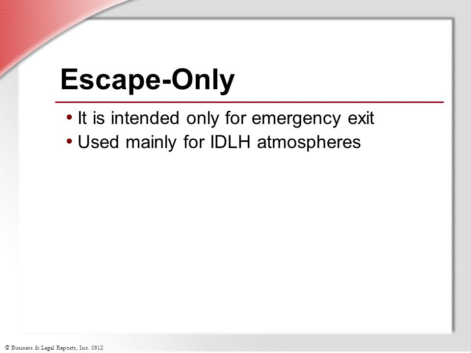 Escape-Only It is intended only for emergency exit