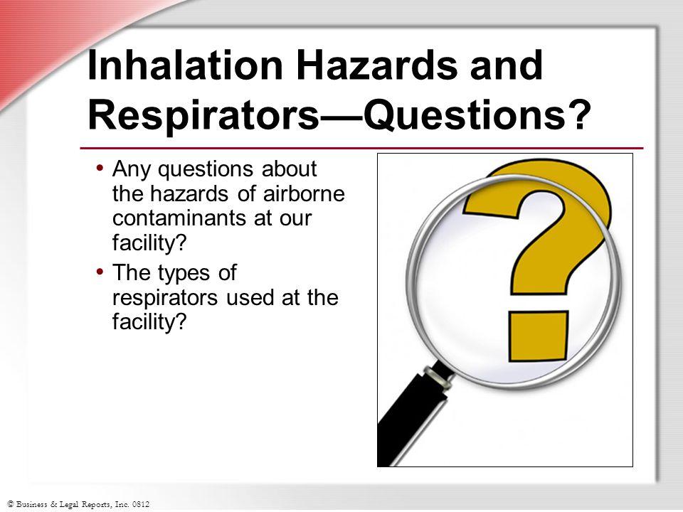 Inhalation Hazards and Respirators—Questions