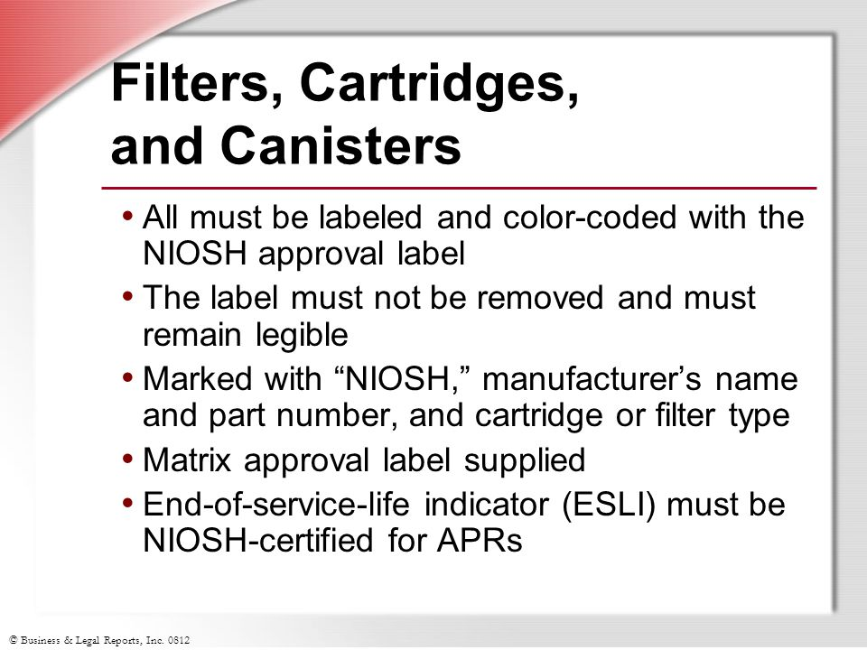 Filters, Cartridges, and Canisters