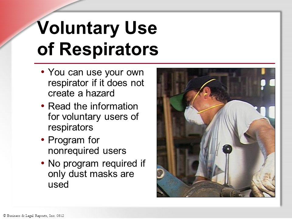 Voluntary Use of Respirators