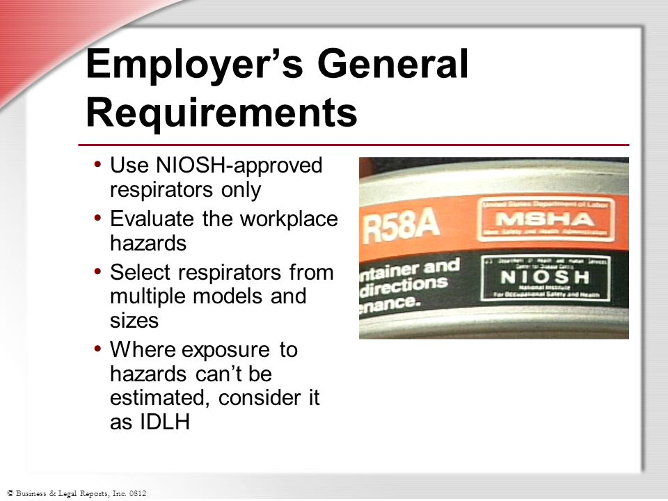 Employer's General Requirements