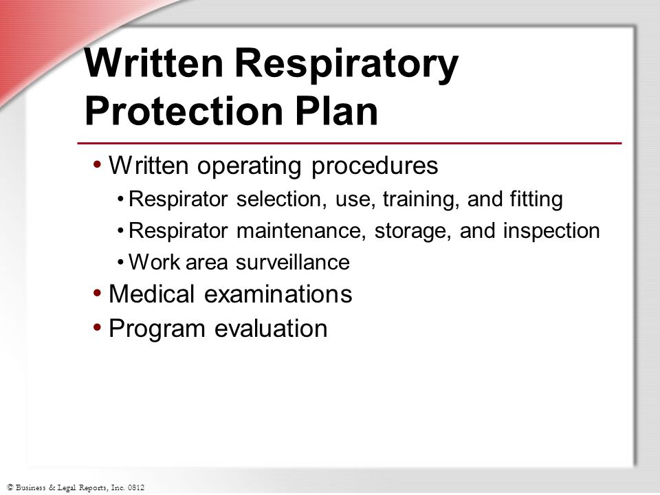 Written Respiratory Protection Plan