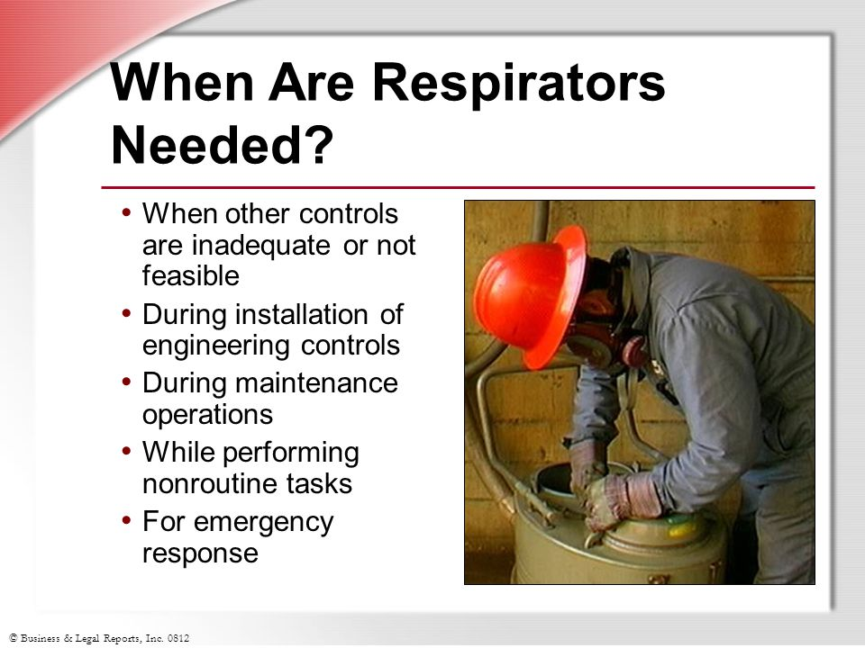 When Are Respirators Needed